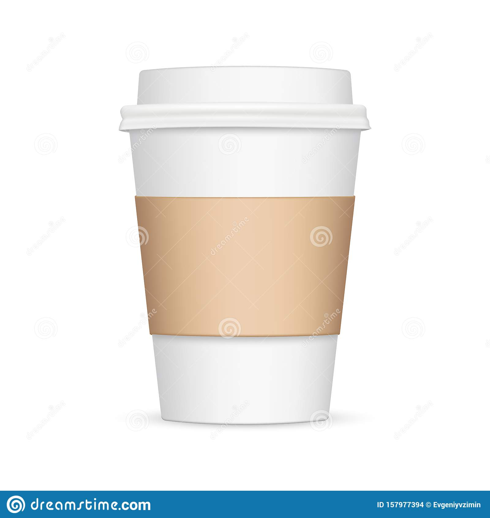Coffee Cup With Sleeve Mockup