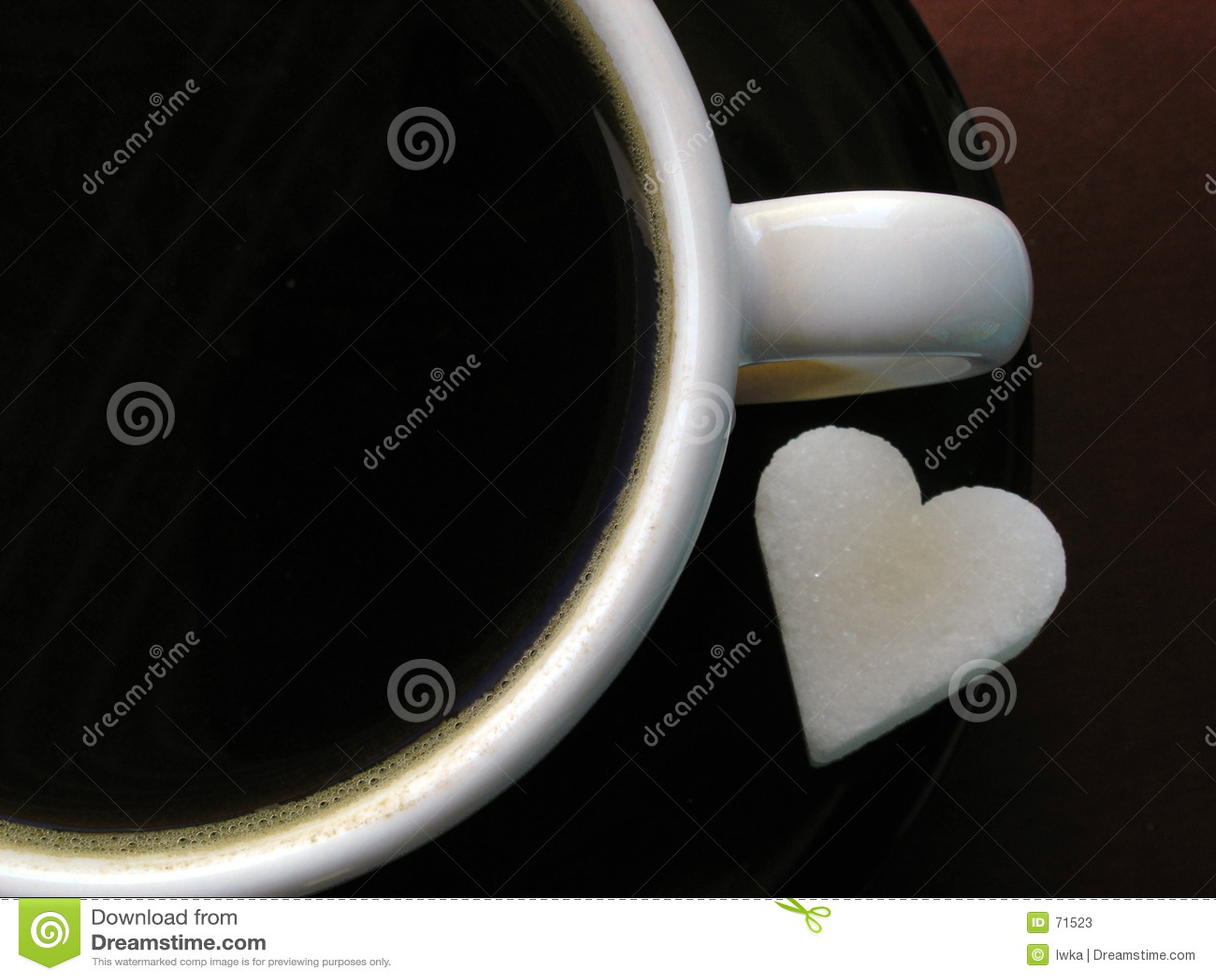Coffee cup & sugar