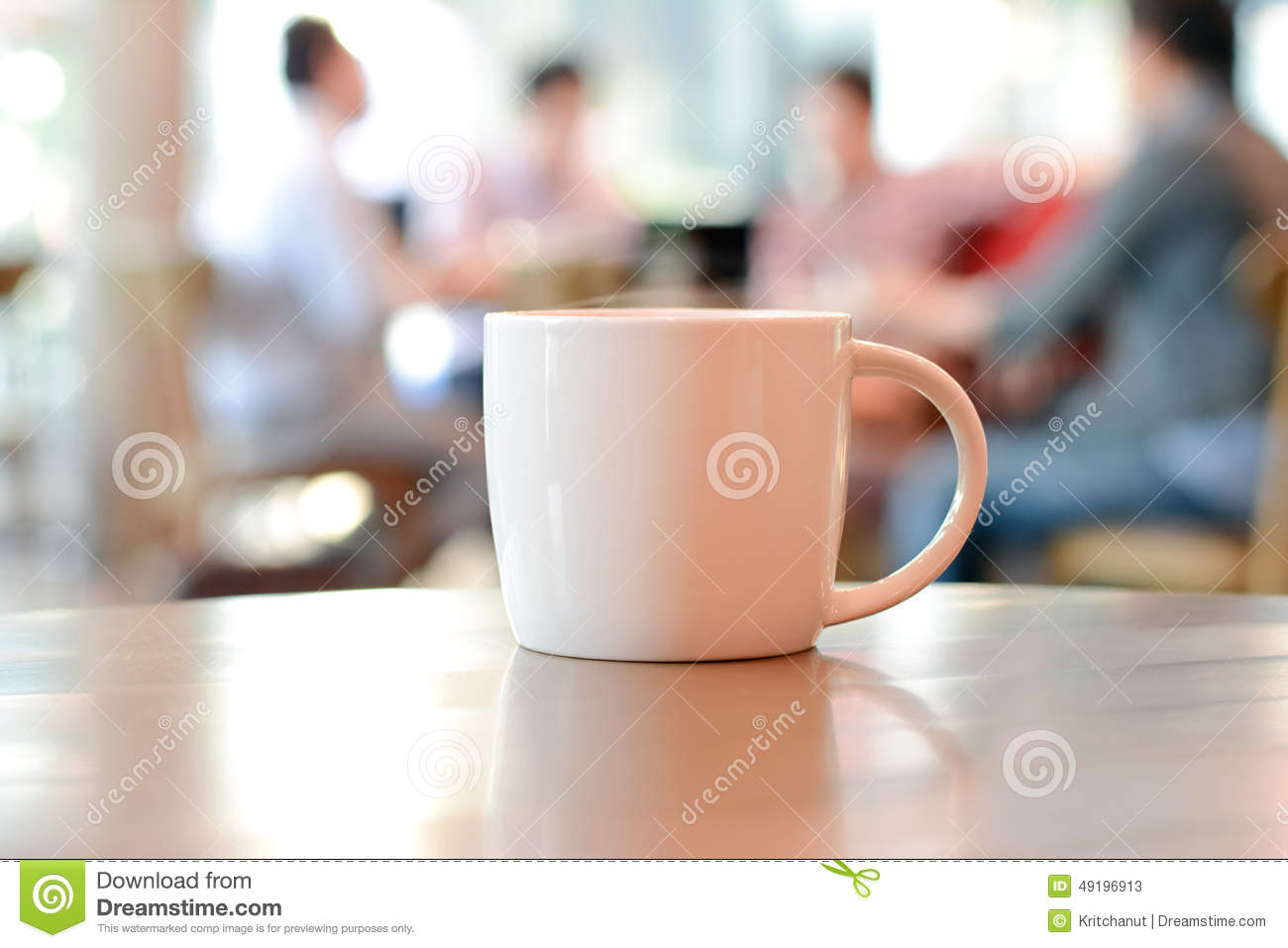 Coffee cup on the table with people in coffee shop as blur royalty free stock photo geotapseo Gallery