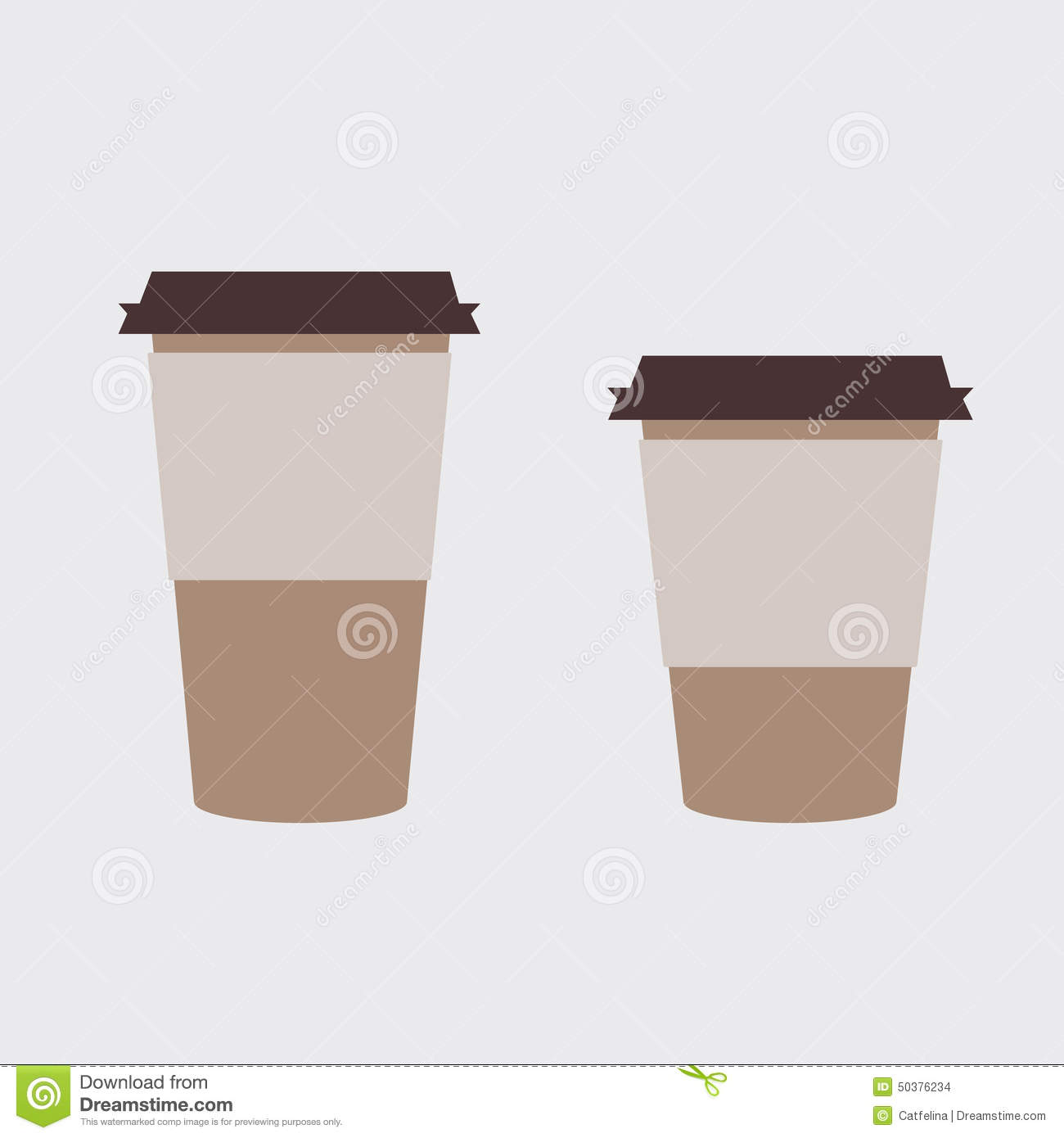 Coffee Cup Template Stock Illustration - Image: 50376234