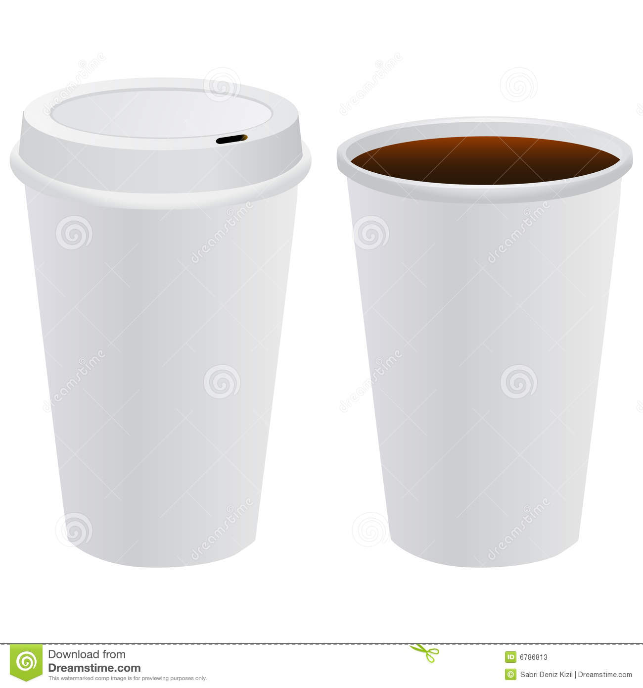 Coffee Cup Template Vector Stock Vector Illustration Of Template