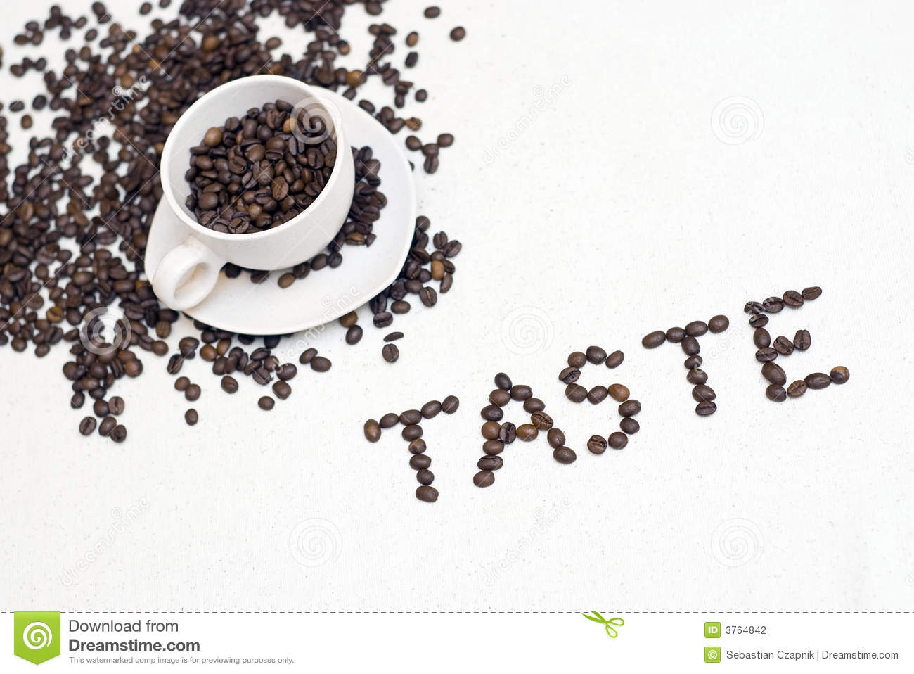 Coffee cup text -  taste