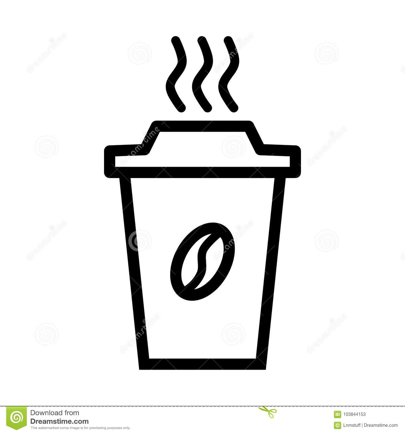 Vector Simple Flat Style Illustration Of A Coffee Cup Starbucks Icon Isolated On White Background High Quality Editable And Scalable Eps File