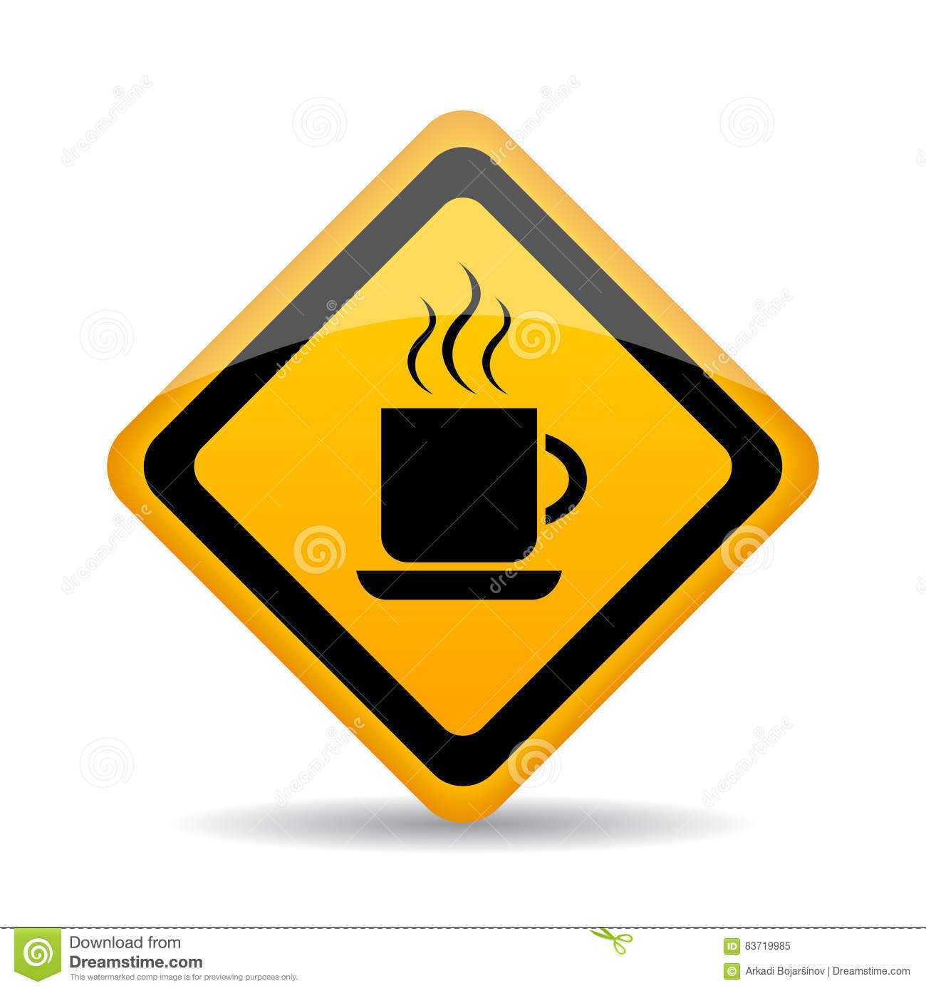 Coffee Cup Vector Sign Stock Vector
