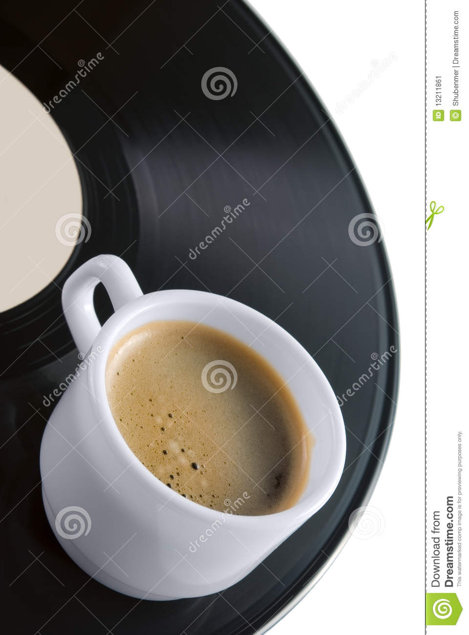 Coffee Cup On Vinyl Record Stock Image Image 13211861