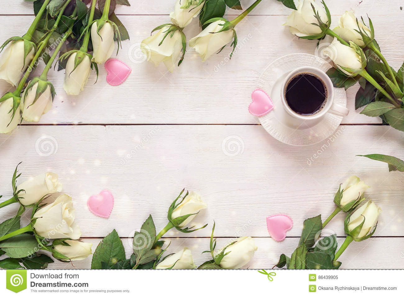 Hot Coffee Beautiful White Rose Stock Photos 556 Images