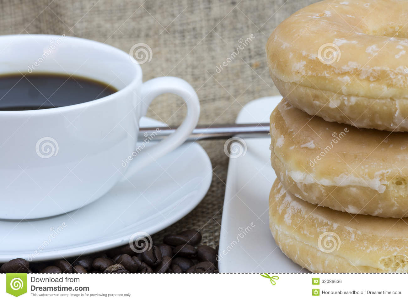 Coffee And Donuts Royalty Free Stock Image - Image: 32086636
