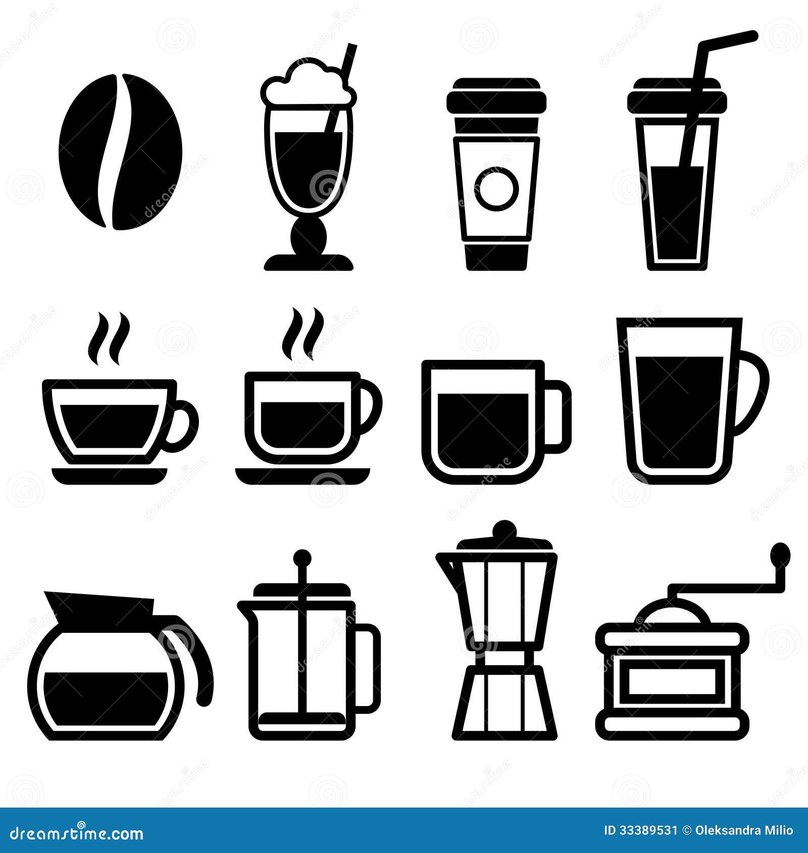 Coffee Drinks Icons Stock Image - Image: 33389531