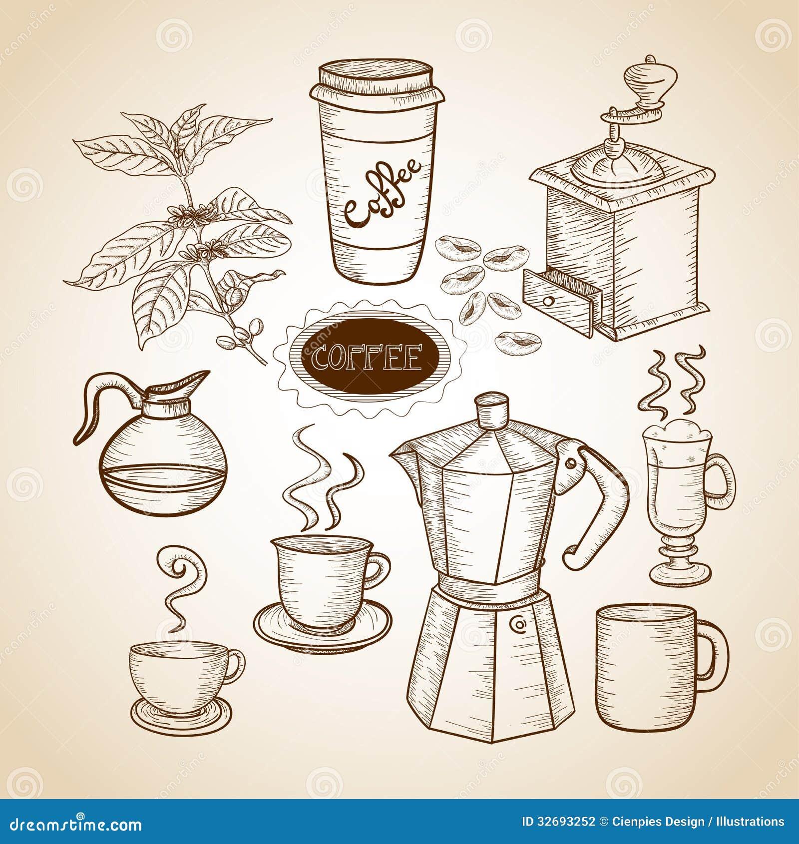 Coffee Mug Drawing Hand Drawn