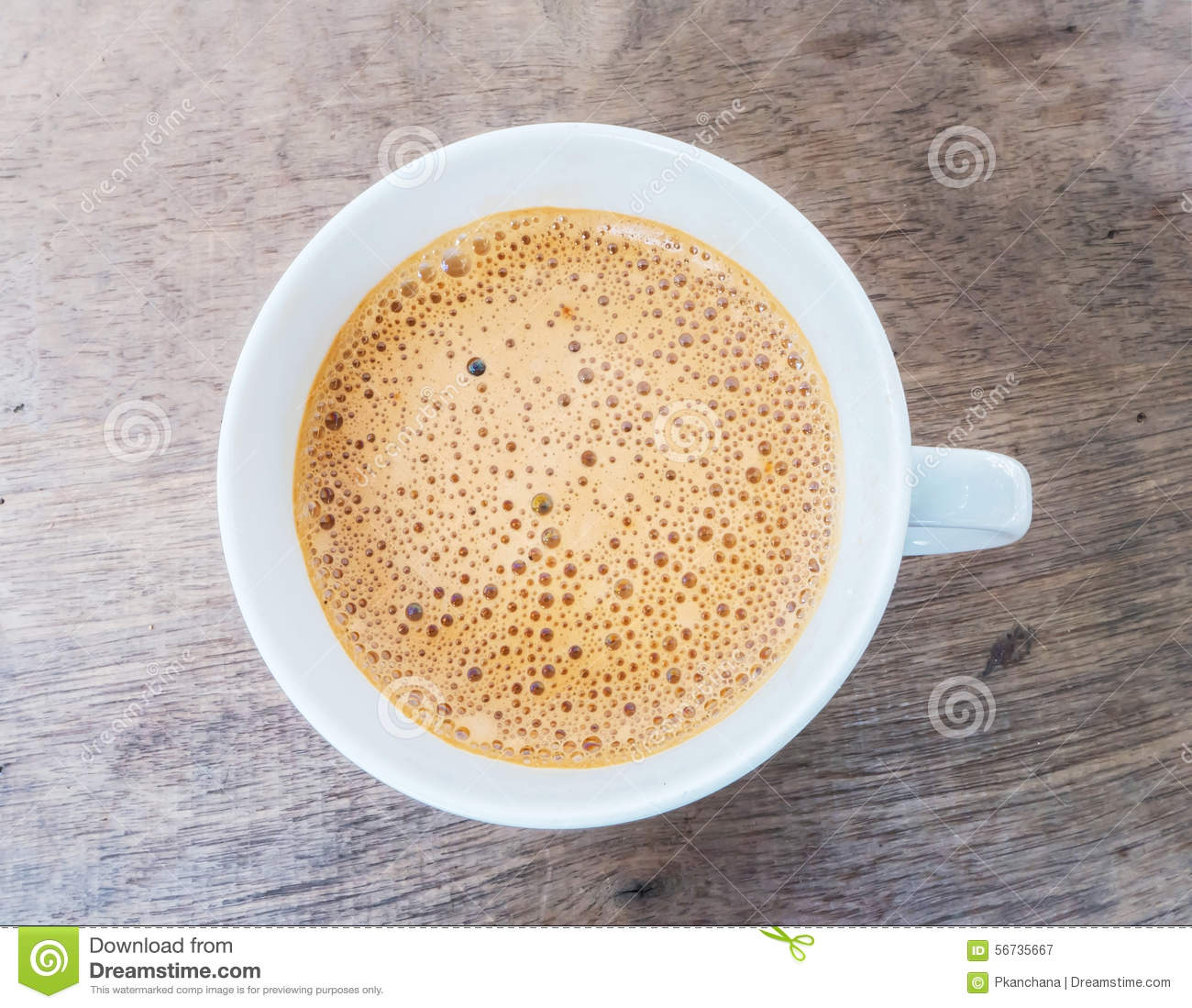 Coffee with foam on top stock image. Image of morning ...
