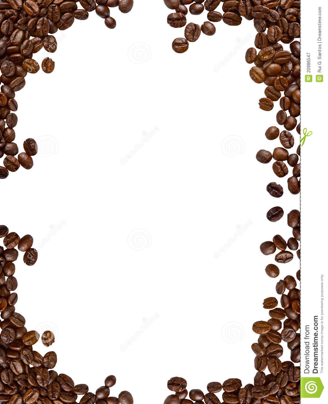 Coffee Bean Border ~ Coffee frame royalty free stock photography image