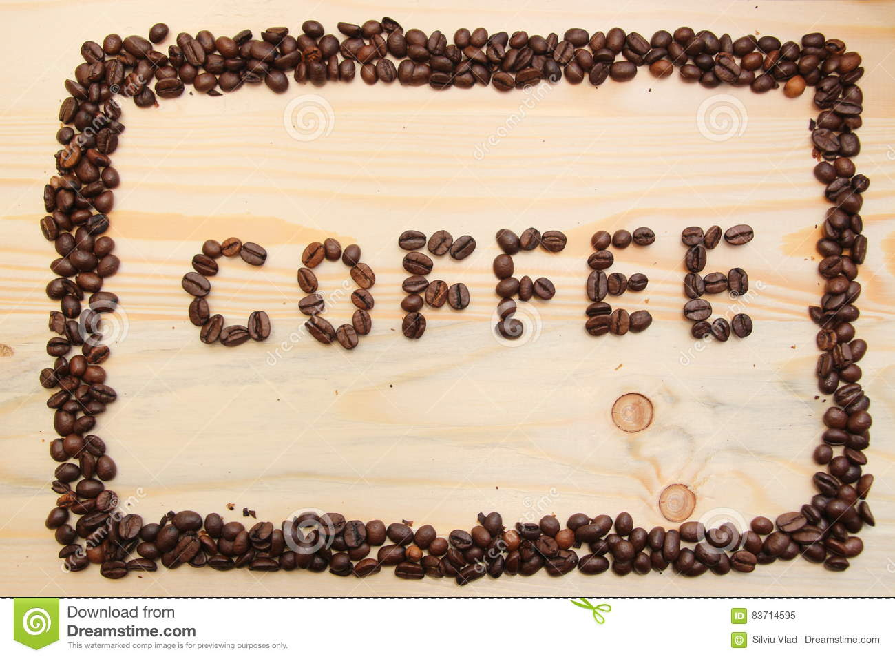 Coffee Frame Made Of Beans Stock Illustration