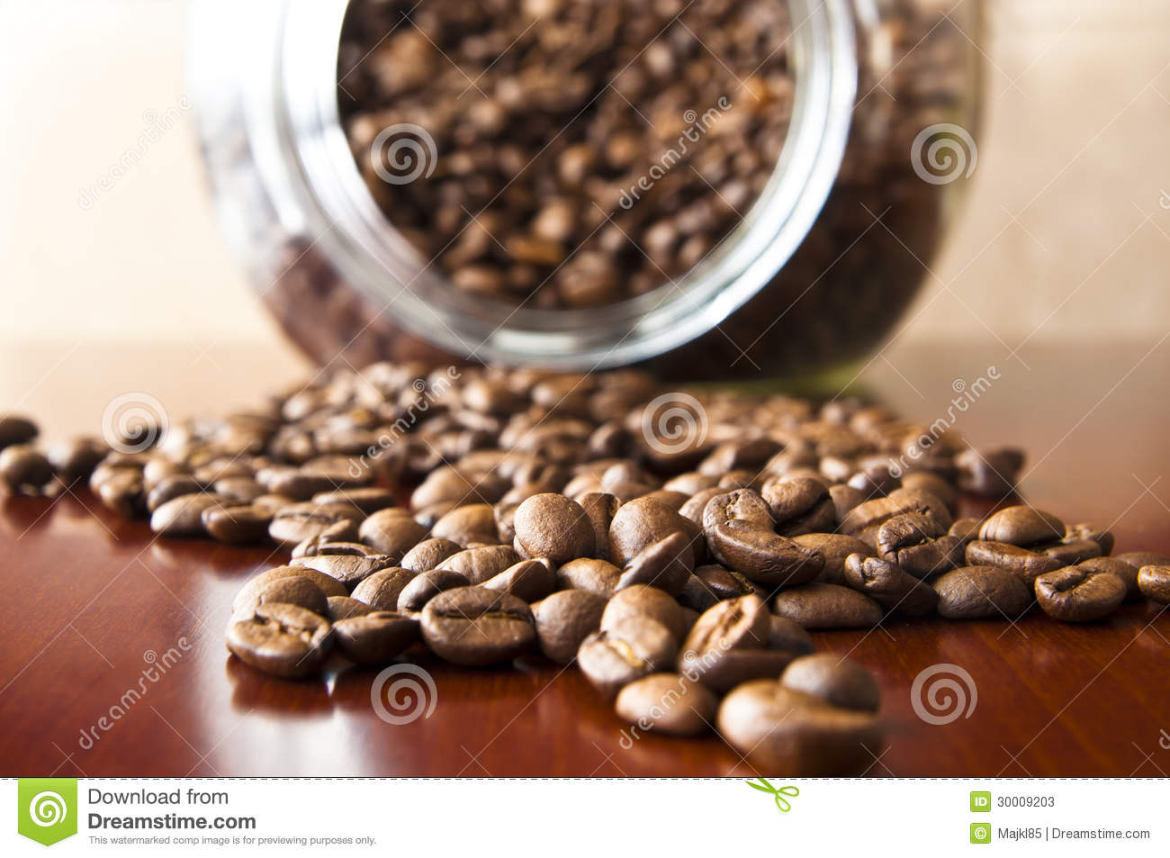 coffee grain on a wooden table stock image image 30009203. Black Bedroom Furniture Sets. Home Design Ideas