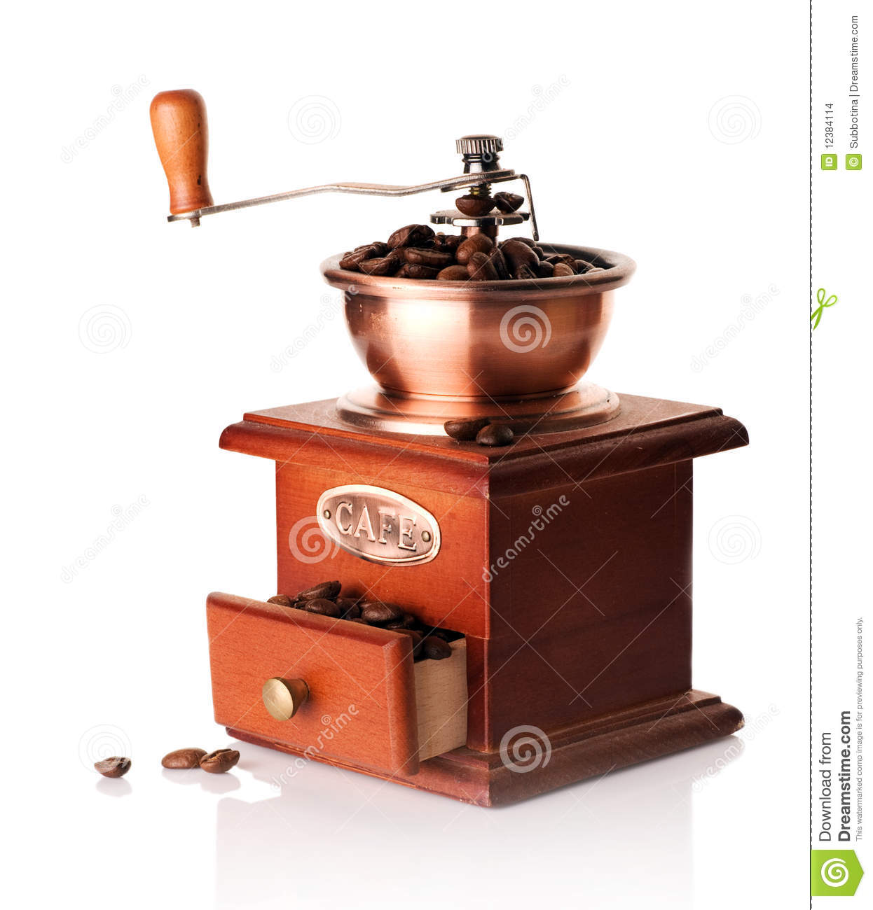 Coffee Grinder Drawing ~ Coffee grinder manual image outline stock illustration