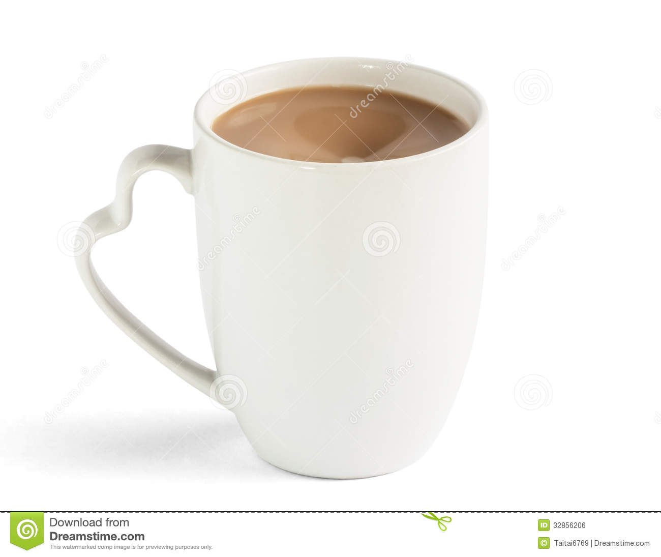 Coffee Heart Cup Royalty Free Stock Image Image 32856206