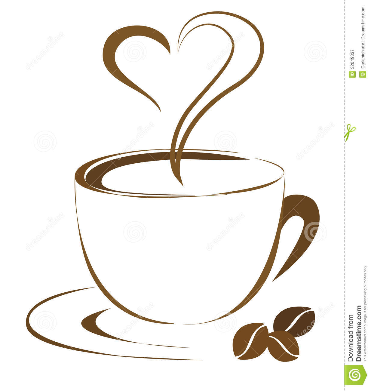 Hand Drawn Outline Cup Of Coffee Simple And Elegant Design