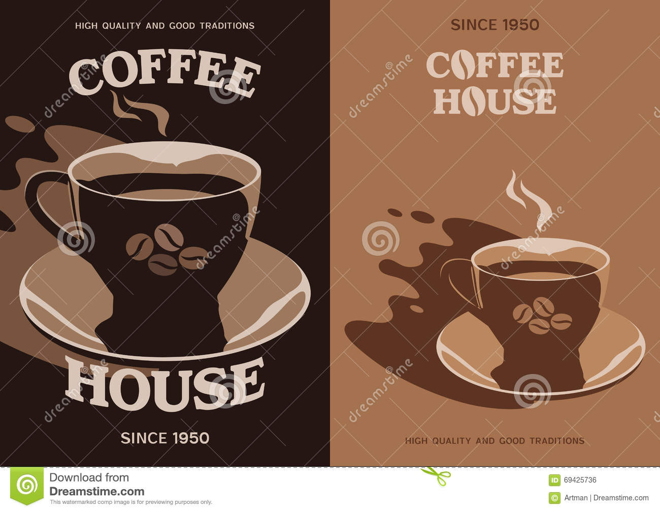 Poster design 1950 - Royalty Free Vector