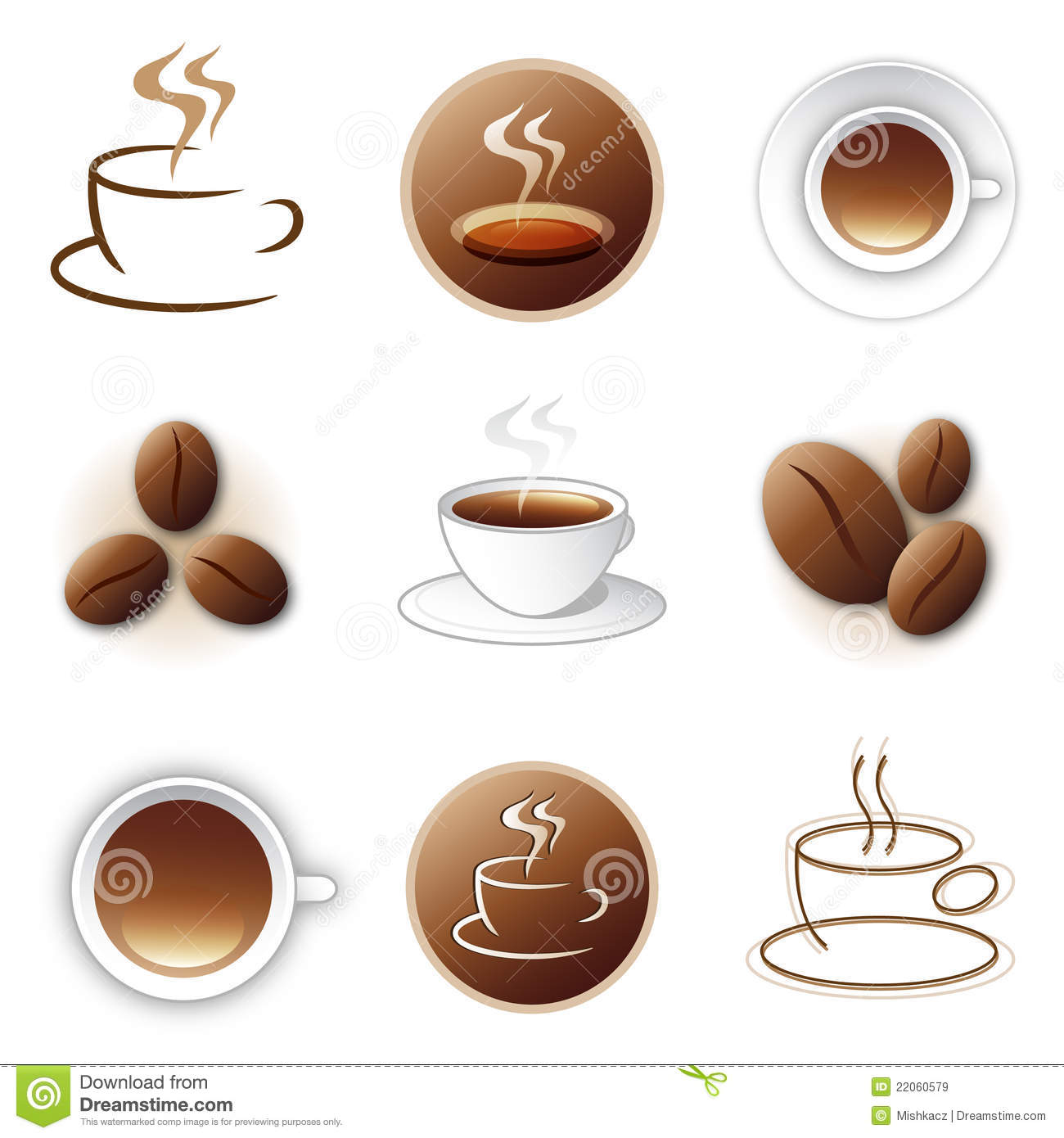 Coffee Icon And Logo Design Collection Royalty Free Stock
