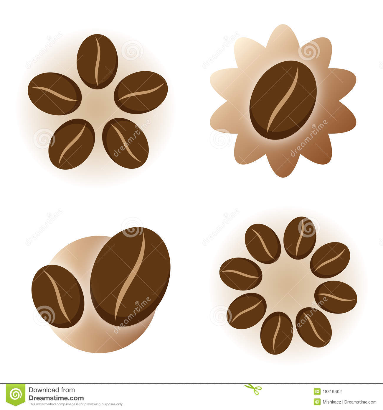 Coffee Icon Logo Element Stock Photography - Image: 18319402