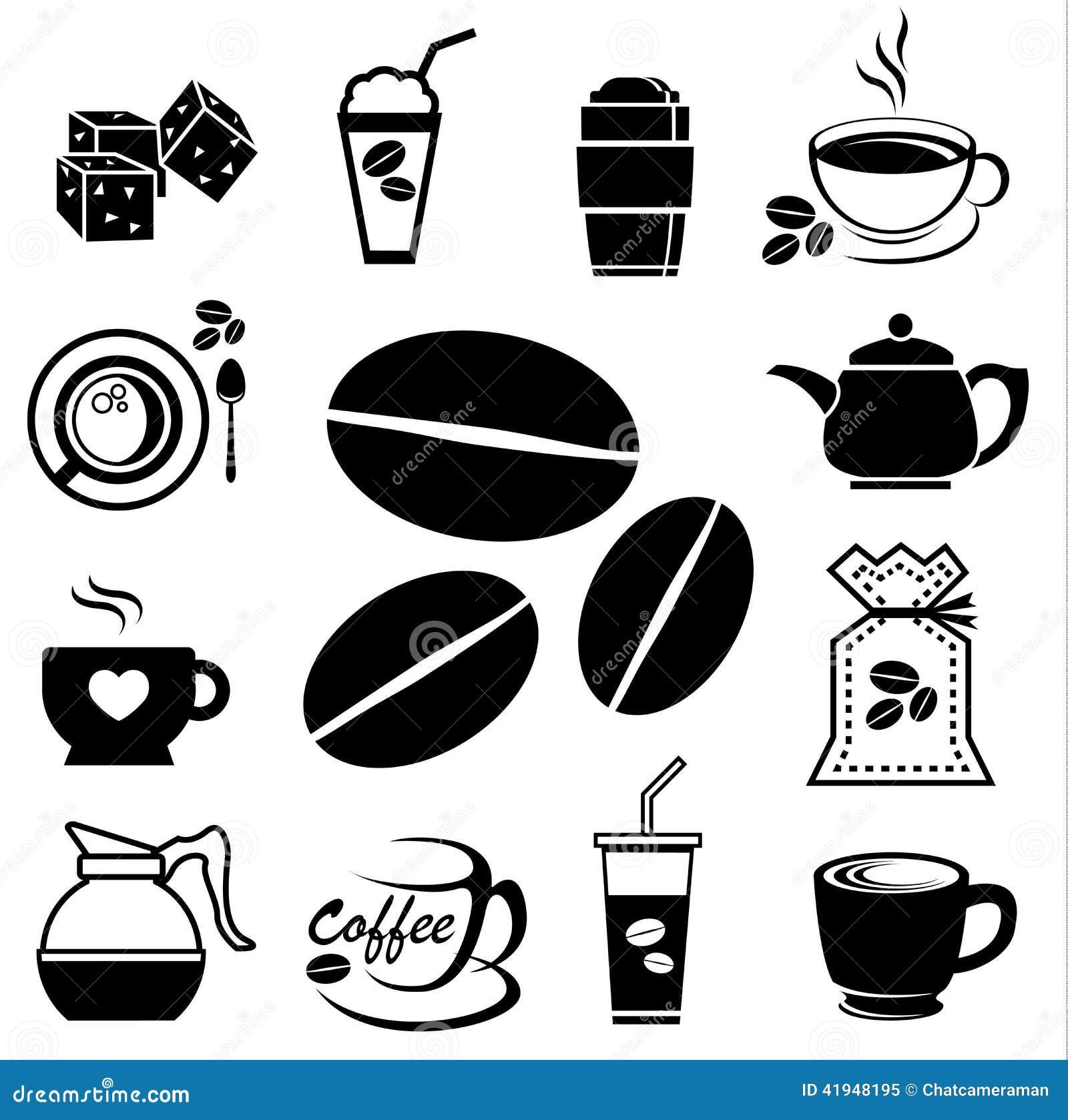 Coffee Icon Set 01 Stock Vector Image 41948195
