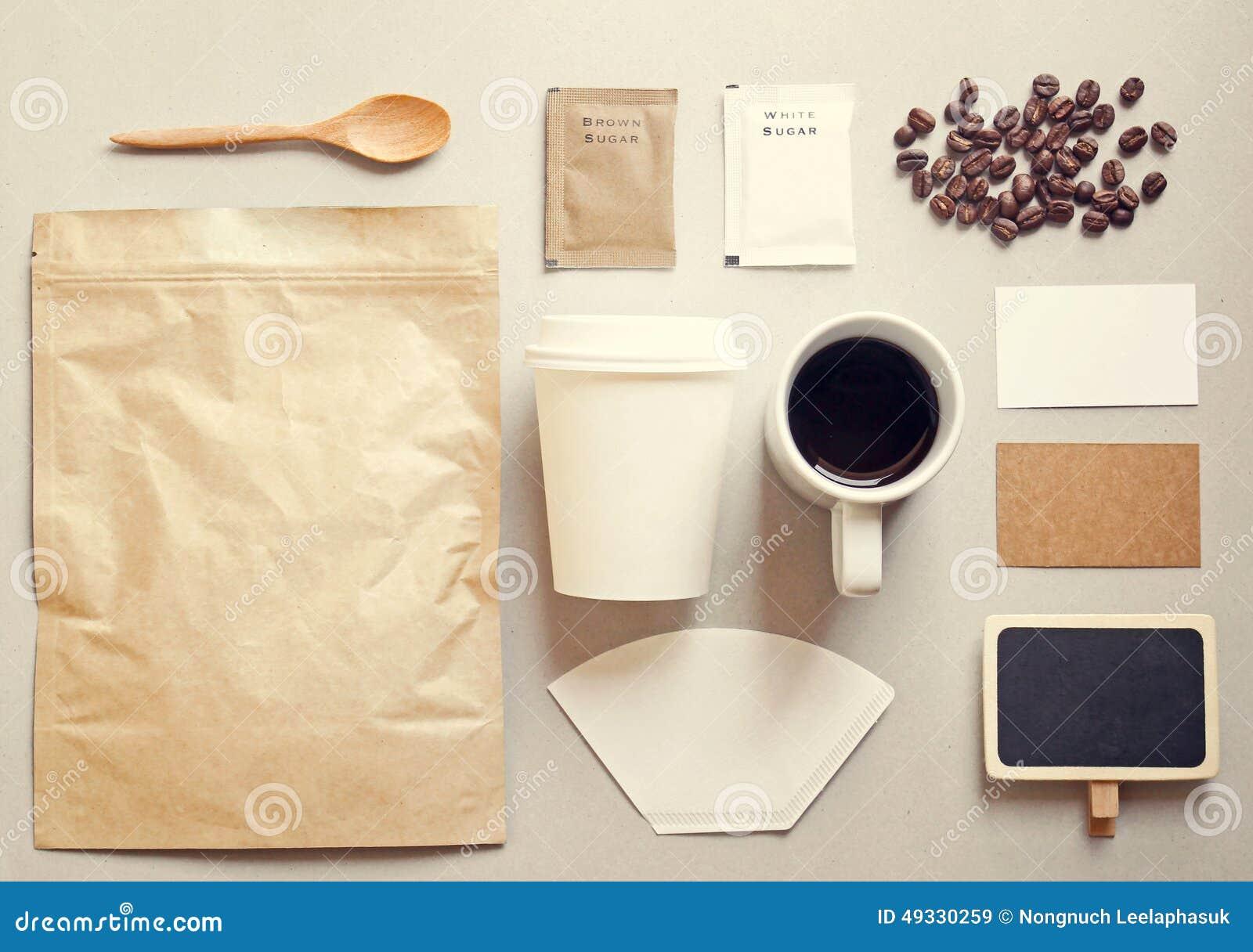 Coffee Identity Branding Mockup Set Stock Photo Image