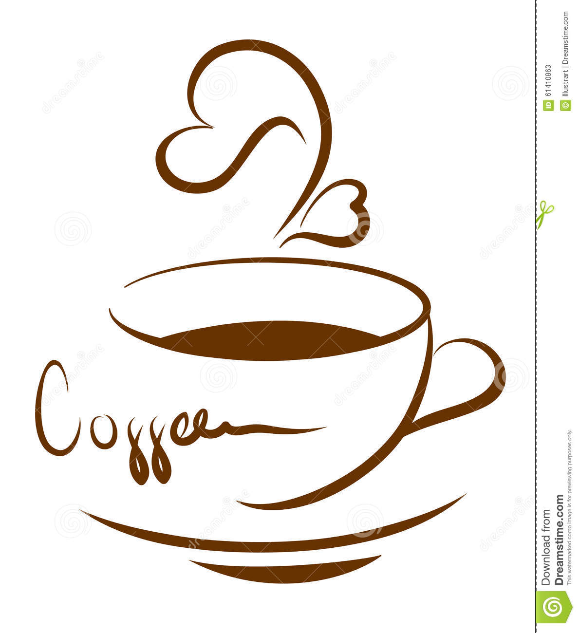 Coffee Illustration Stock Vector - Image: 61410863