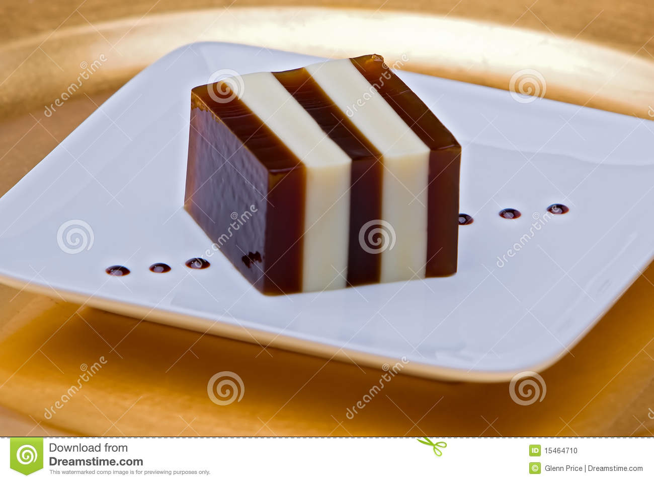 Vietnamese style coffee jello, with coffee and condensed milk layers ...