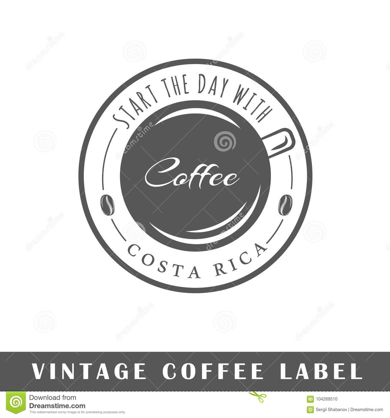 coffee label template stock vector illustration of classic 104269510