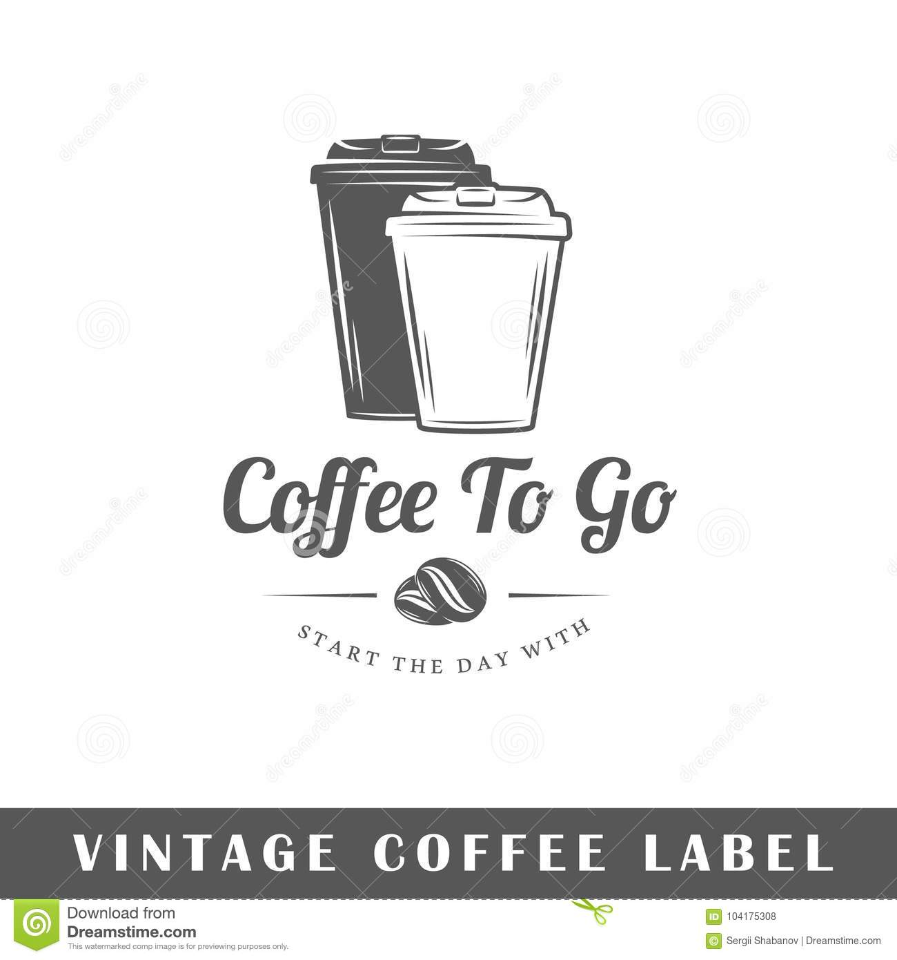coffee label template stock vector illustration of drink 104175308