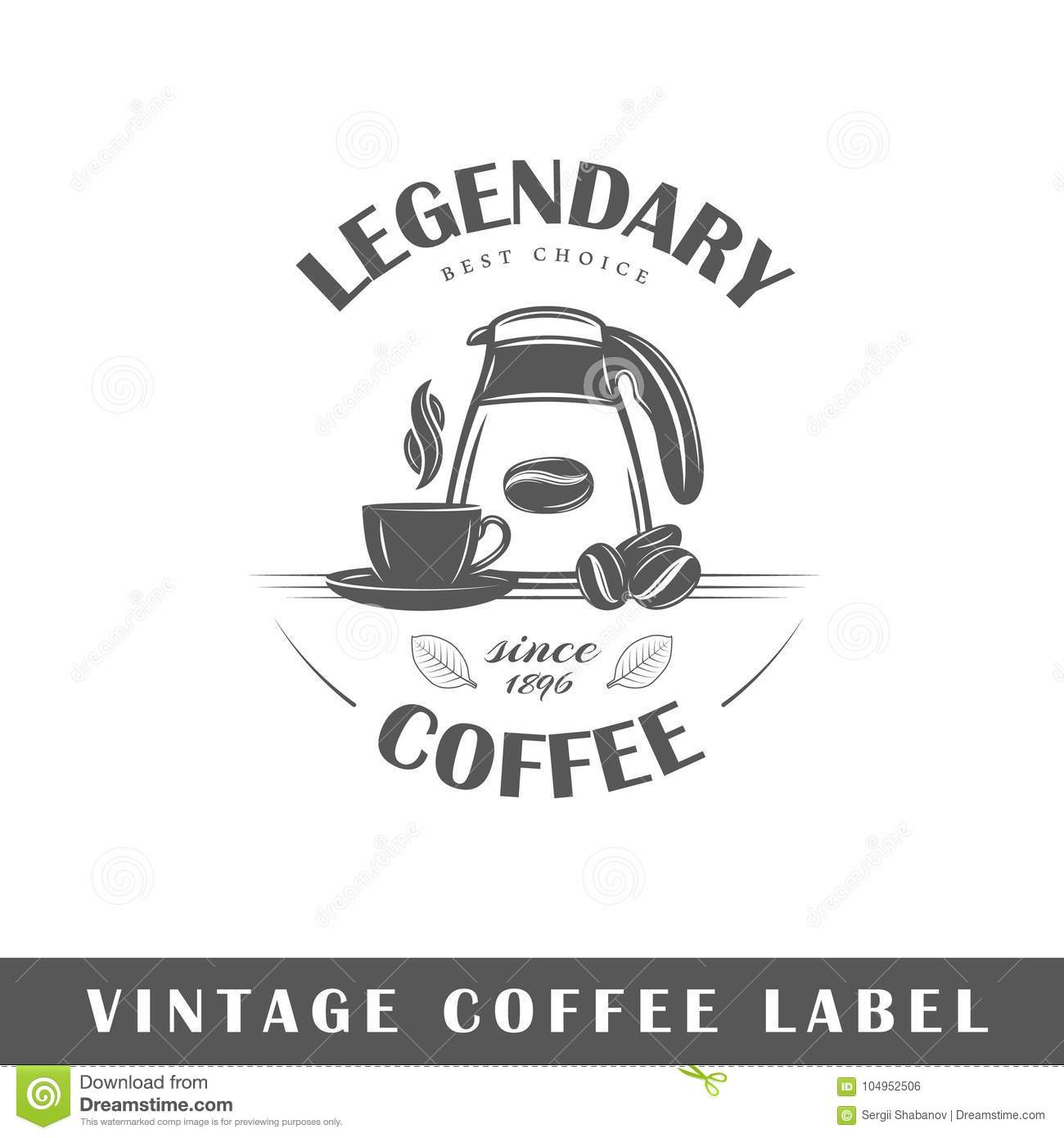 coffee label template stock vector illustration of classic 104952506
