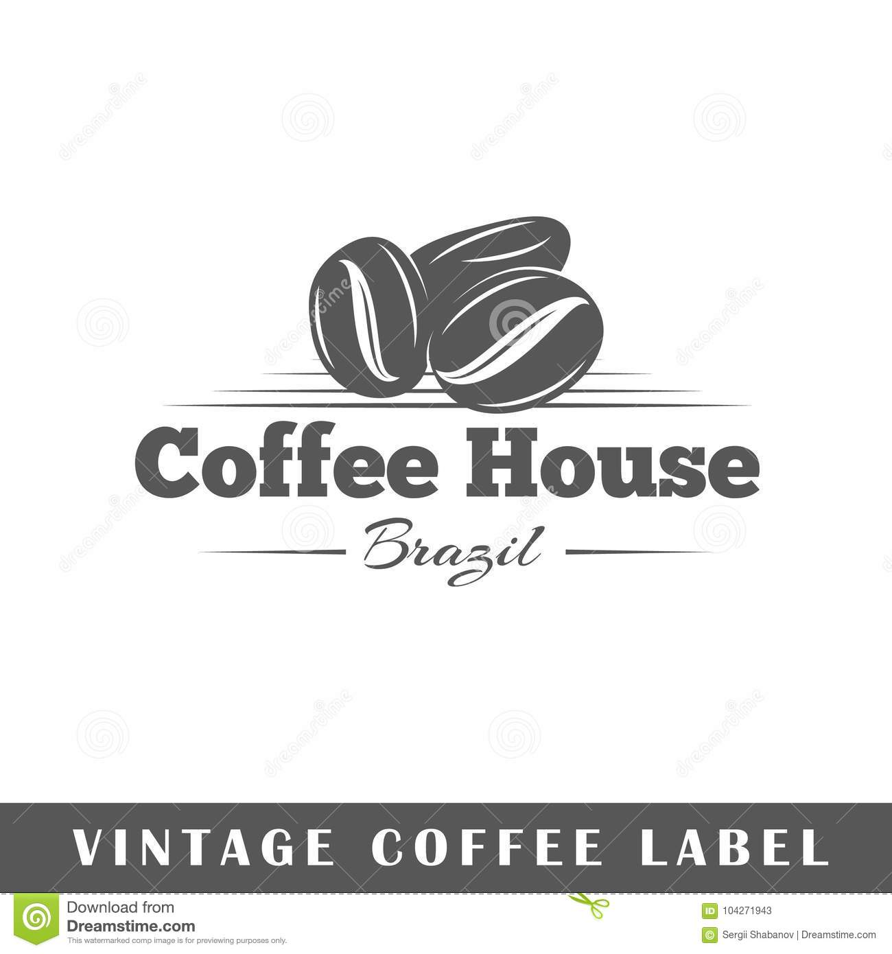 coffee label template stock vector illustration of black 104271943