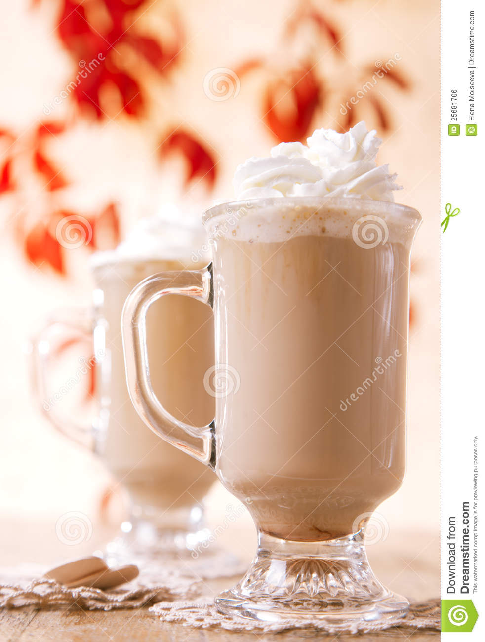coffee latte macchiato with cream royalty free stock image image 25681706. Black Bedroom Furniture Sets. Home Design Ideas