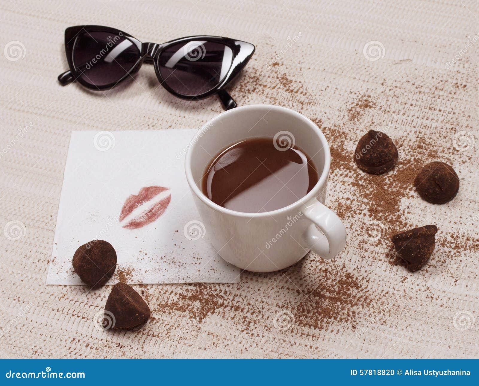 Coffee Cups With Coffee Love