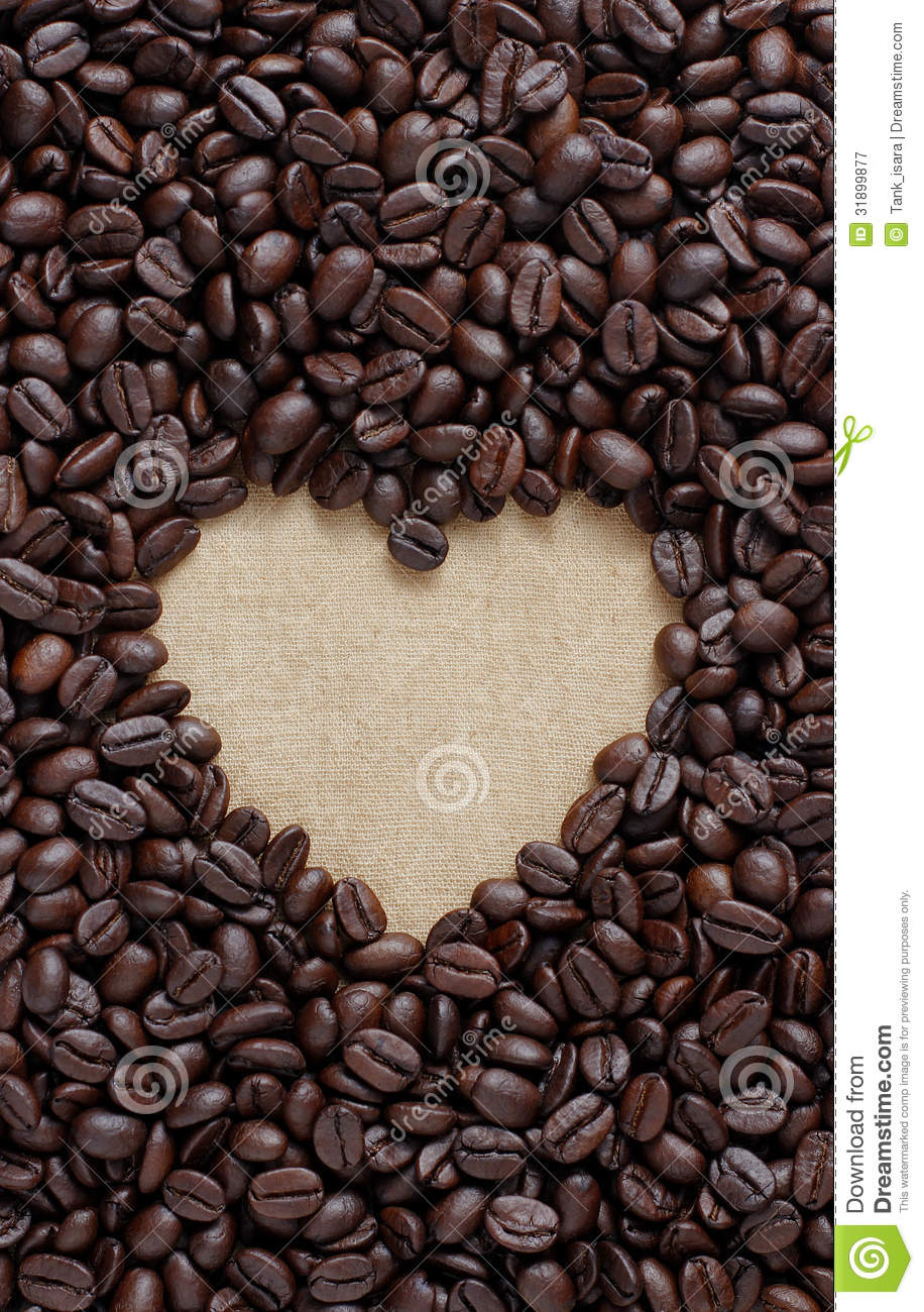 Coffee lover sign pile of brown coffee beans in heart shape stock royalty free stock photo biocorpaavc Gallery