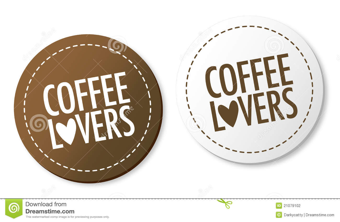 Coffee lovers stickers stock vector. Illustration of ...