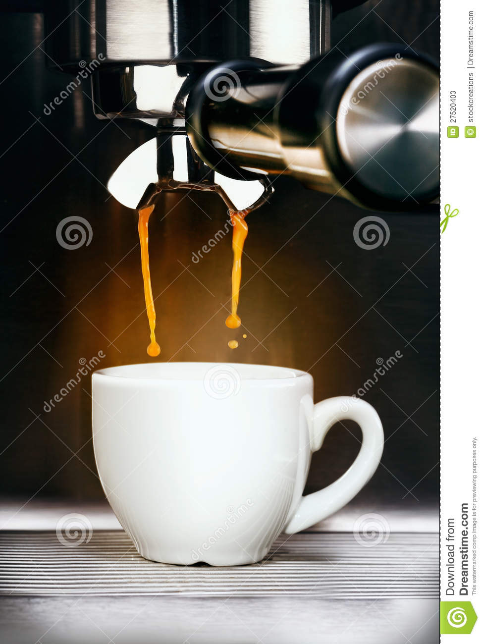 Coffee Machine Pouring Espresso Coffee Stock Image Image
