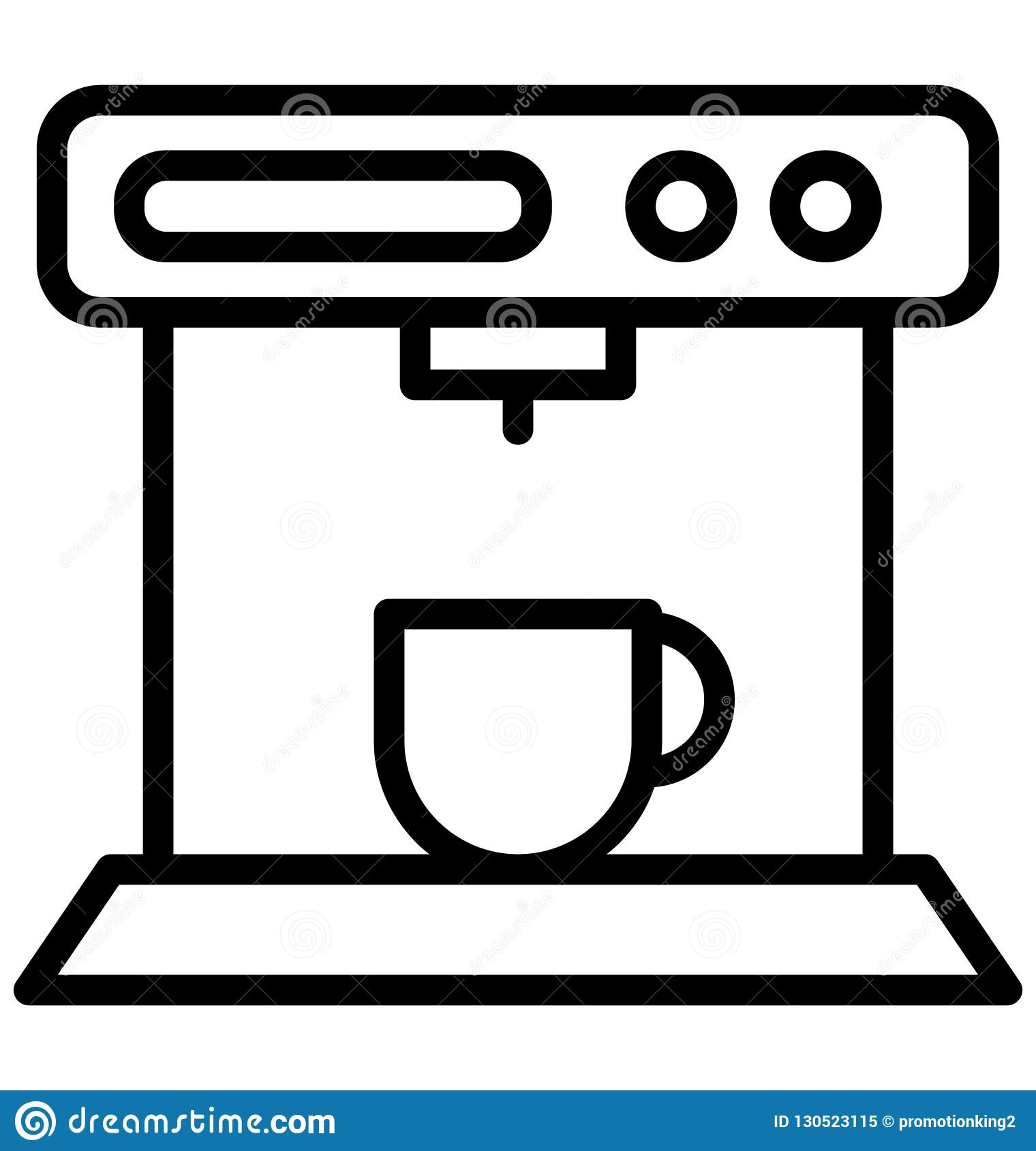 Coffee maker, espresso maker Isolated Vector Icon That can be easily edited in any size or modified.