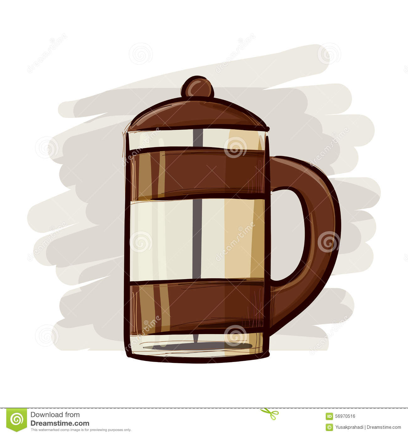 Coffee Maker Drawing ~ Coffee maker hand drawing stock vector image