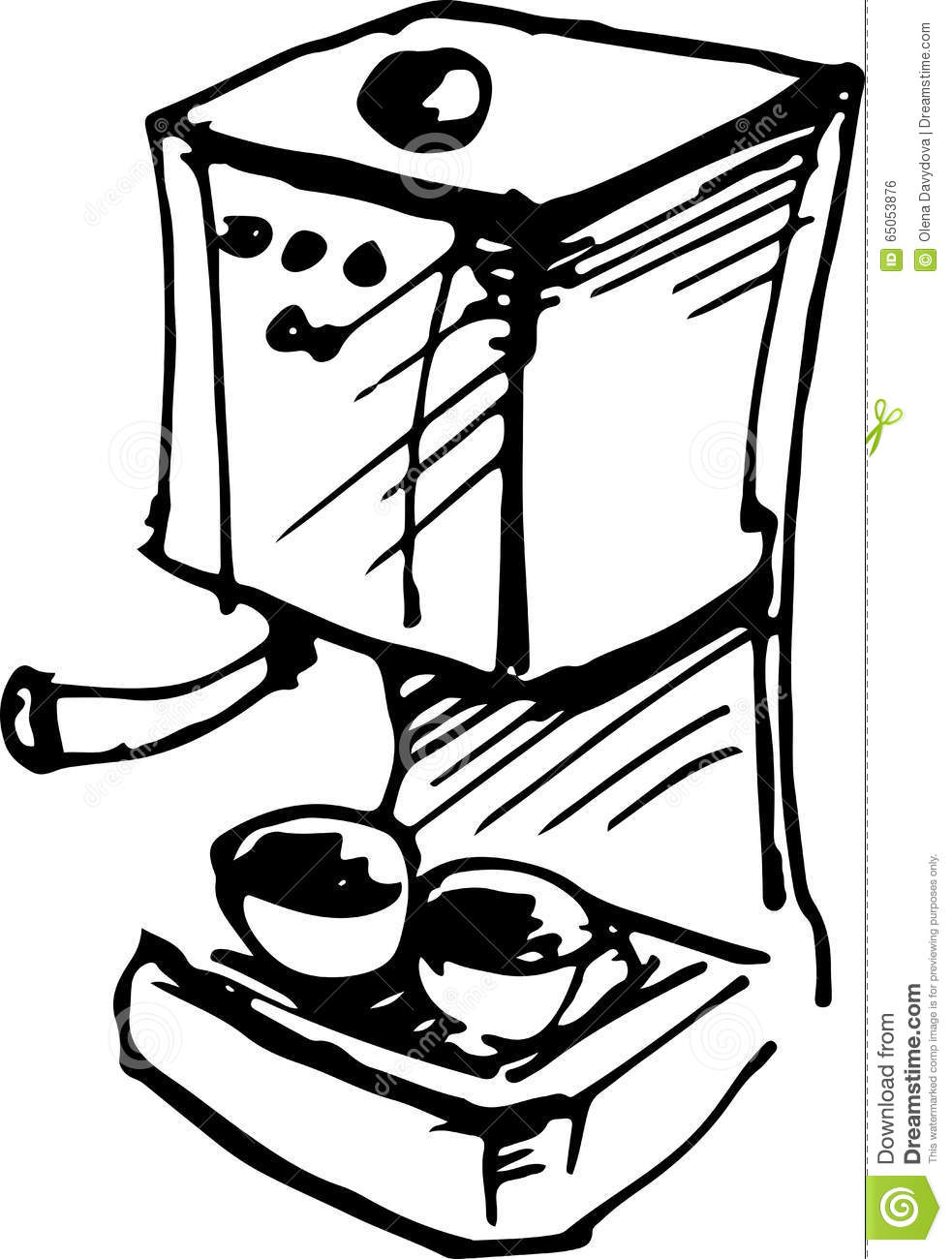 Coffee Maker. Vector Illustration Stock Vector - Illustration of ...