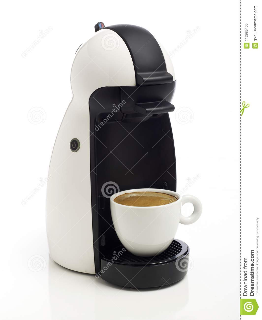 Coffee maker on white