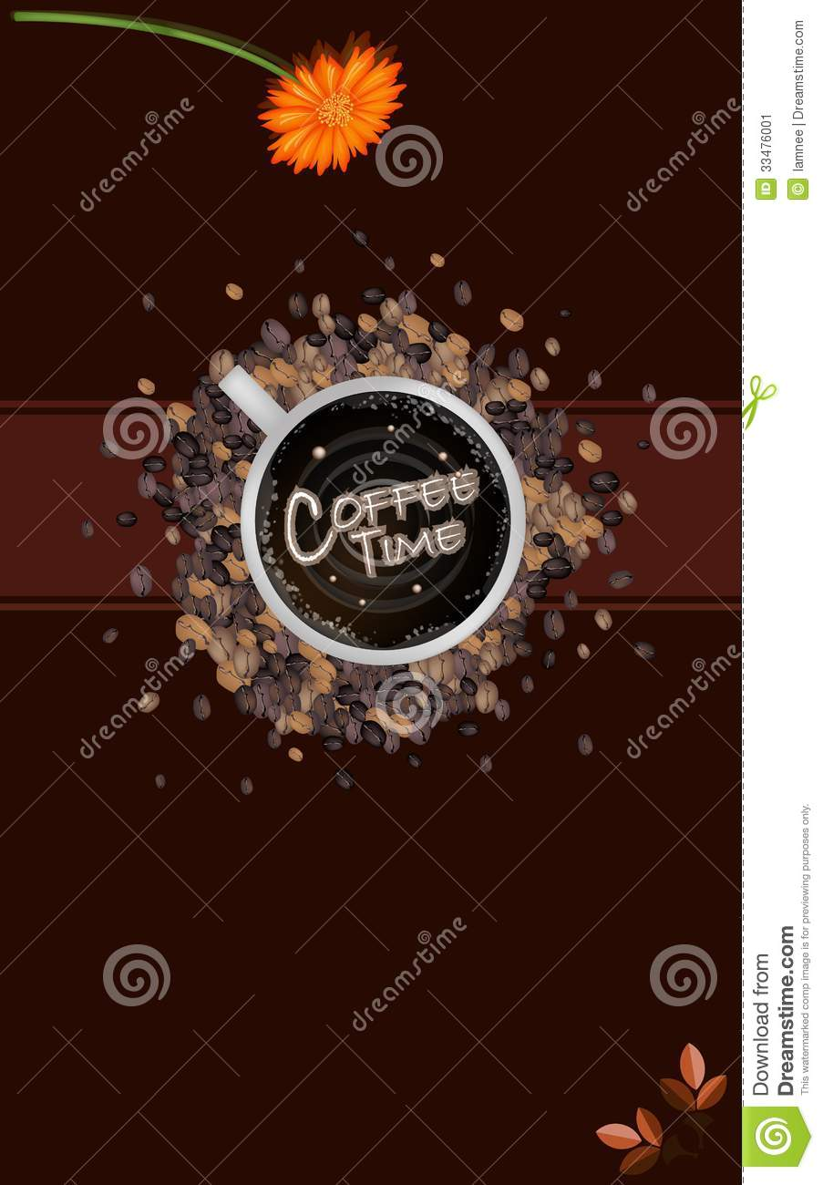 A Coffee Menu Template On Brown Background Image Image – Free Cafe Menu Templates for Word