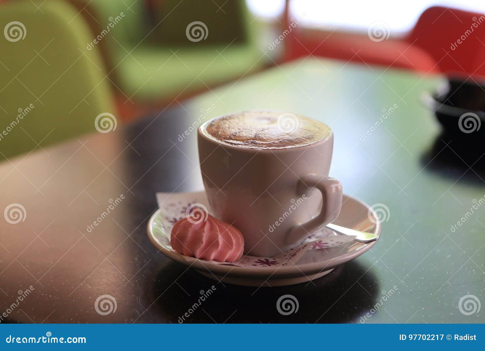Coffee with meringue