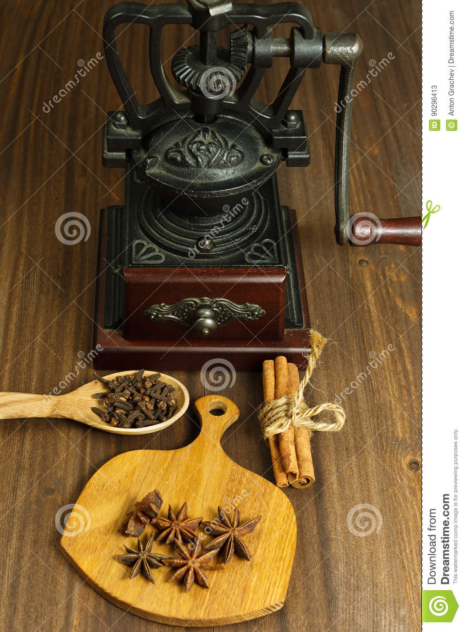 Coffee mill and some spices