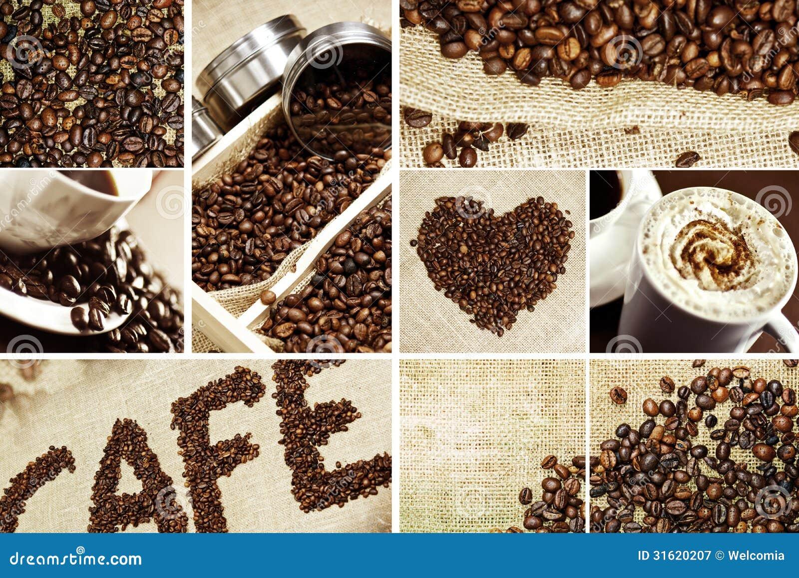 Coffee Mosaic - Decorative Coffee Theme. Perfect As Print for Coffee ...