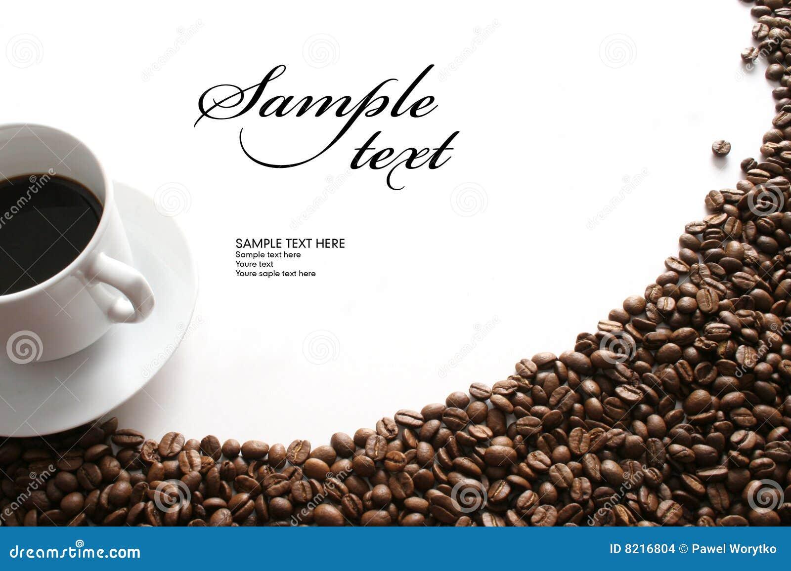 Coffee Motive On White Background Stock Images Image