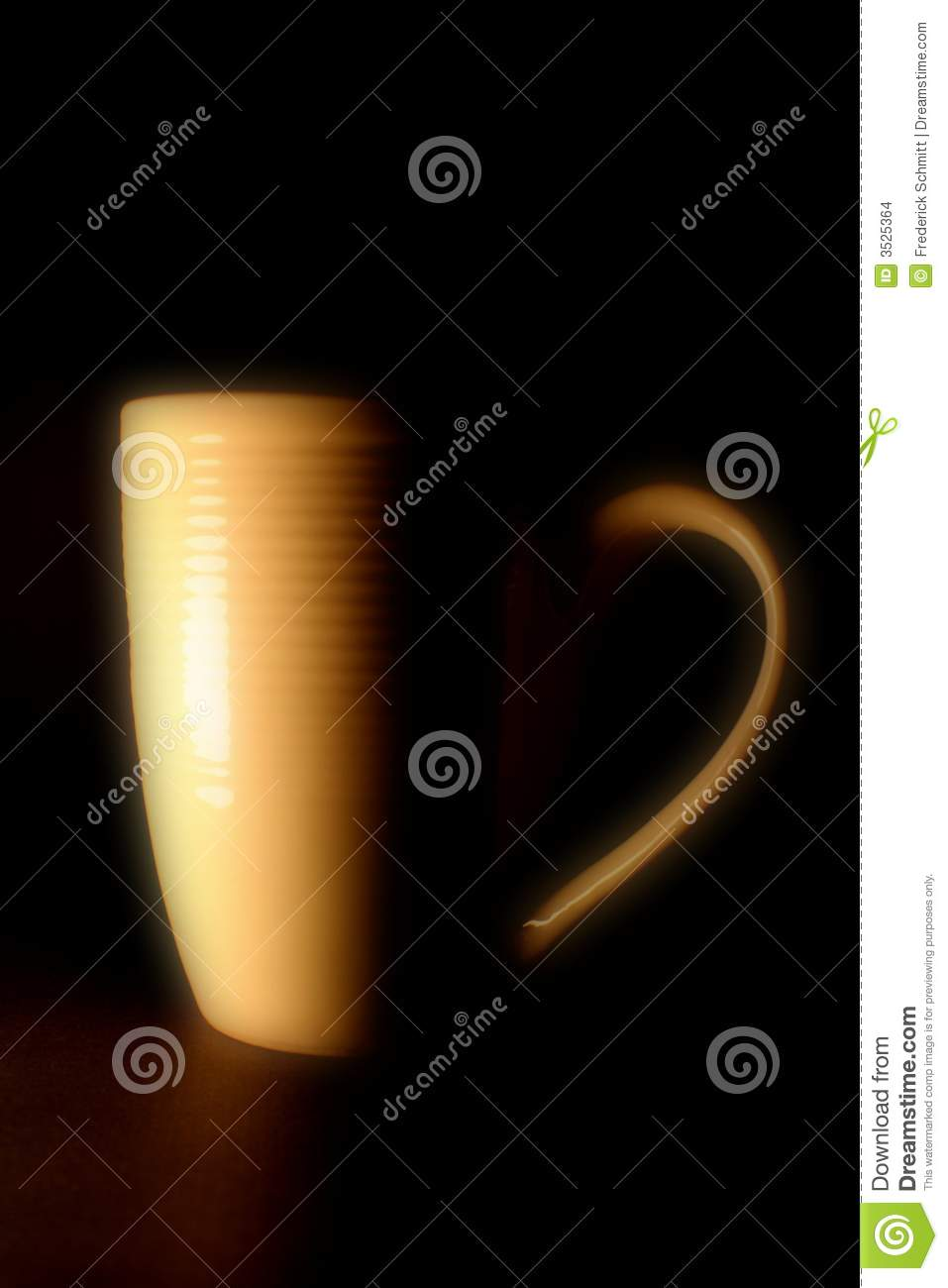 Download Coffee mug with big handle stock photo. Image of thirst - 3525364