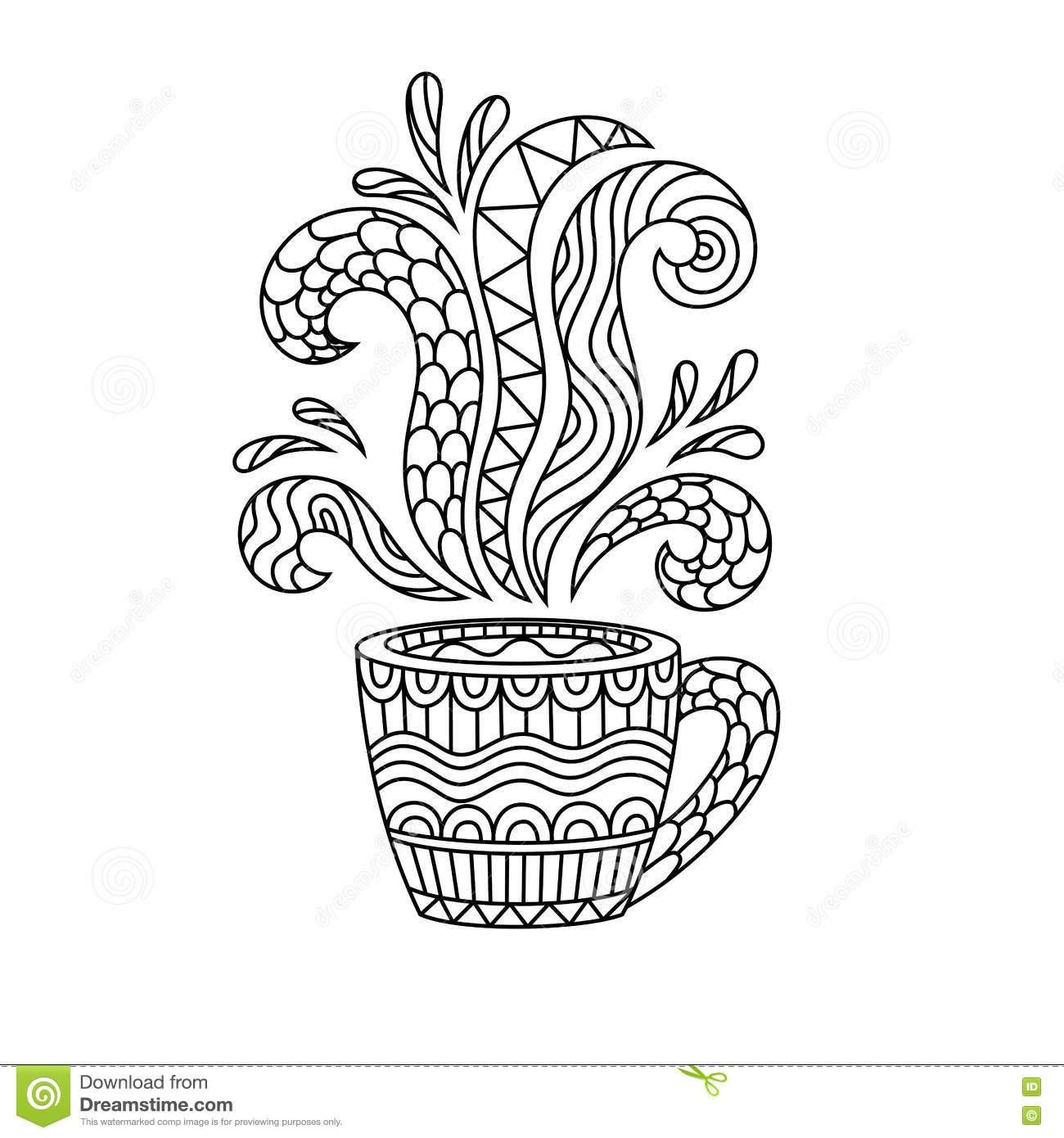 Coffee Mug Or Tea Cup With Abstract Patterns In The Style ...