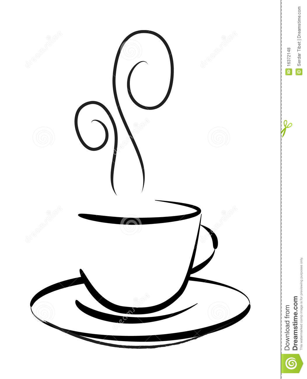 Coffee cup sketch - Royalty Free Stock Photo Download Coffee Mug Vector Drawing