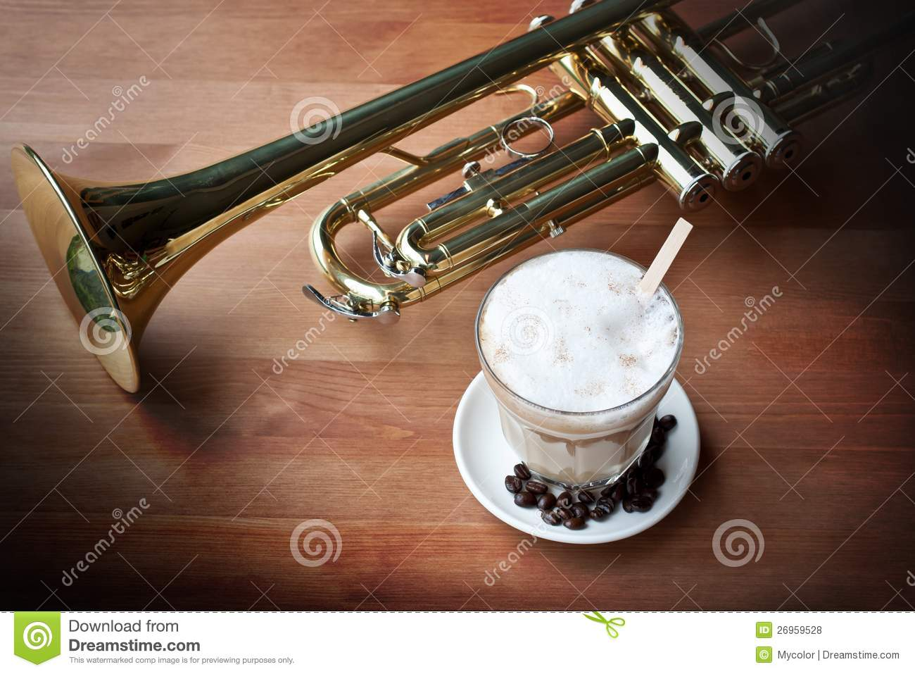 Coffee And Music Stock Photo Image Of Border Design