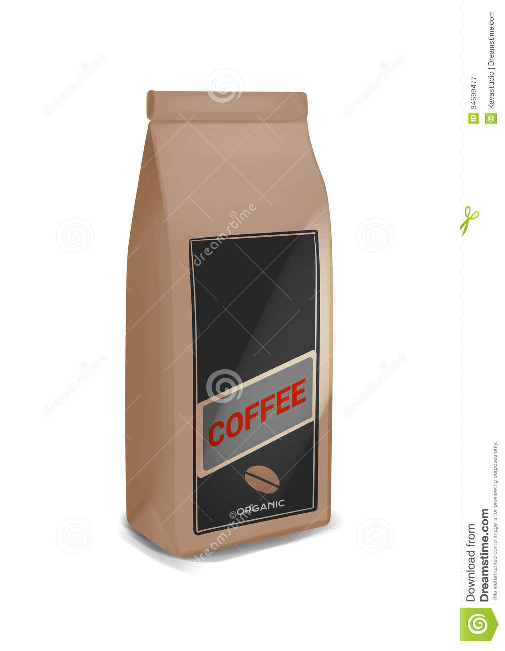 Coffee Pack Stock Illustration Image Of Sack Title